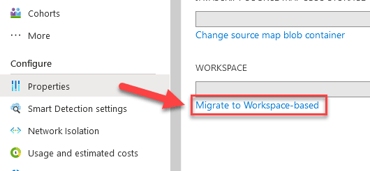 Upgrade Application Insights to Workspace-based Resource Mode from Classic