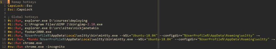 AutoHotKey syntax highlight vim