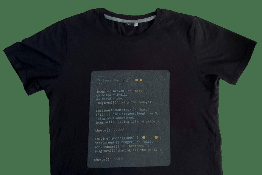 My tee-shirt with source code art