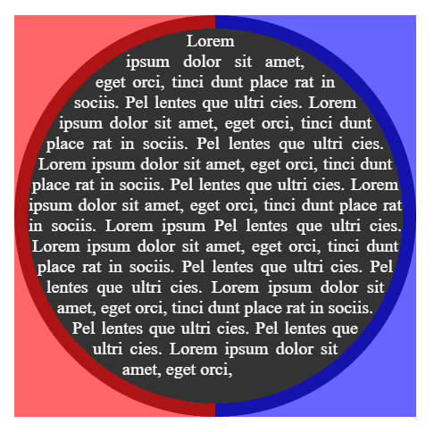 Text inside circular shape