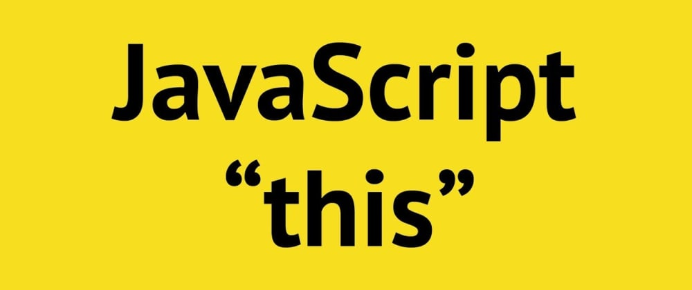 Cover image for A quick intro to 'this' in JavaScript