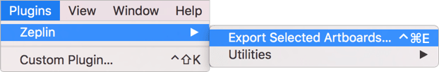 How to use Sketch export the design to Zeplin