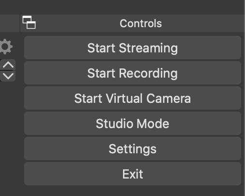 Virtual Camera button