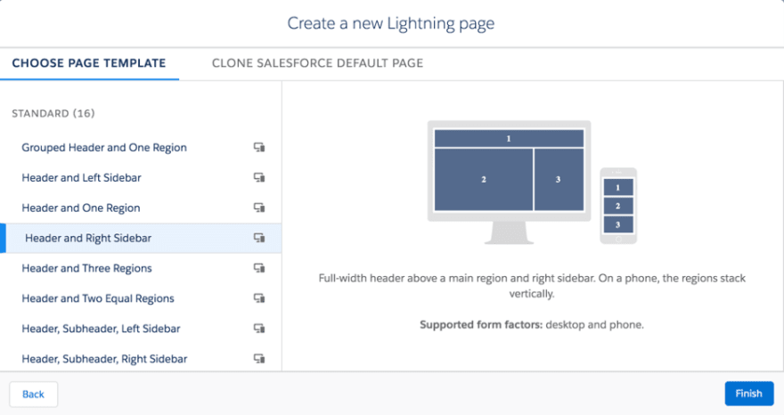Lightning Page Templates