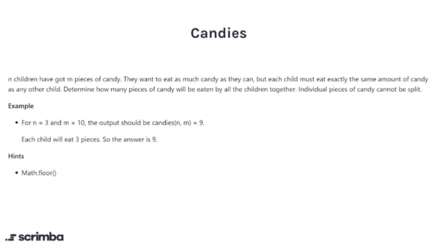 candies challenge