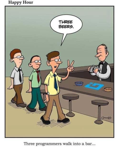 Three programmers walk into a bar