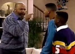 Uncle Phil from Fresh Prince of Bel Air yelling at Will and Carlton