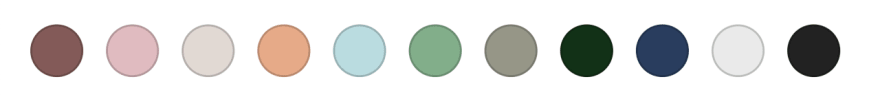 Color palette for Zuari
