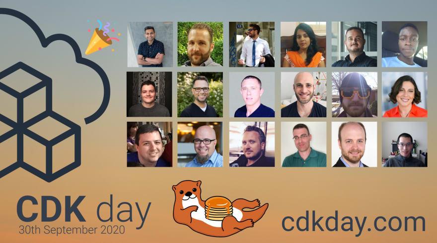 CDK Day Logo and Speaker images