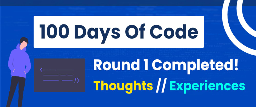 Cover image for My 100 Days Of Code Journey