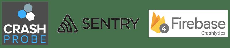 sentry.io crashprobe crashlytics logos