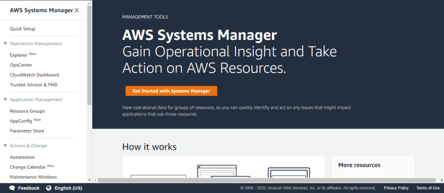 Systems Manager Console