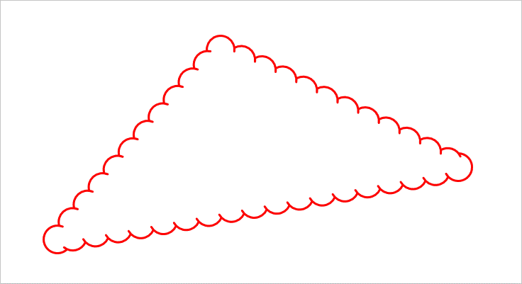 A polygon with cloud border style in PDF file