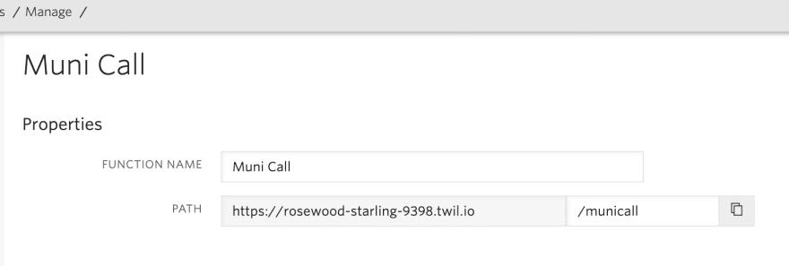 call Function name, path