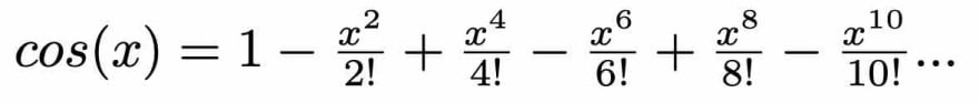Maclaurin Series of cos(x)