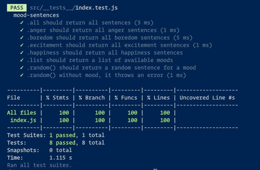 jest results console screenshot