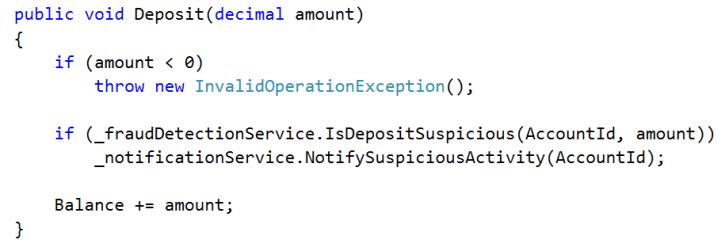 deposit method with fraud detection