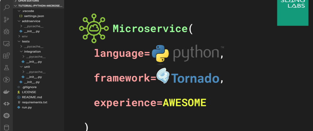 Cover image for Python Microservices, Part 2: Build and Test REST endpoints with Tornado