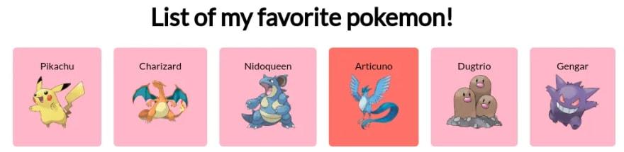 List of my favorite Pokemon