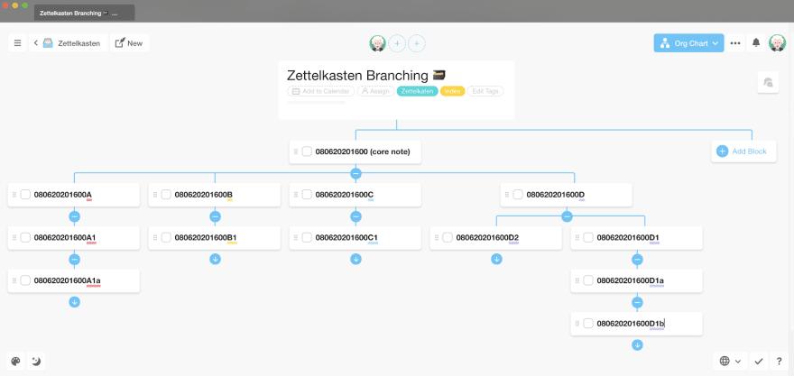 the zettelkasten branching