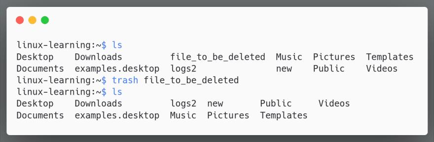 trash single file