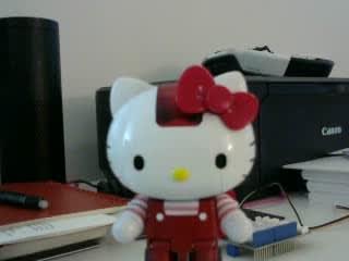 It's a Hello Kitty Robot!