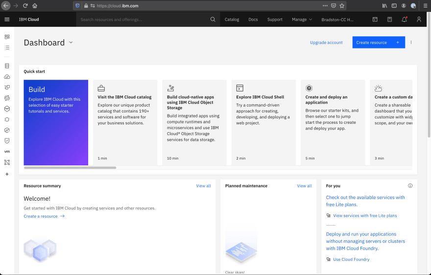 IBM-Cloud-Dashboard
