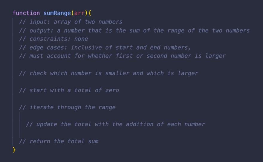 pseudocoding example step 2