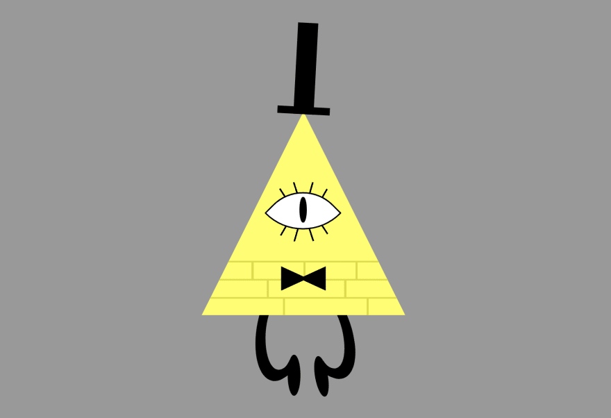 The triangle with the face now also has some sticky-legs hanging