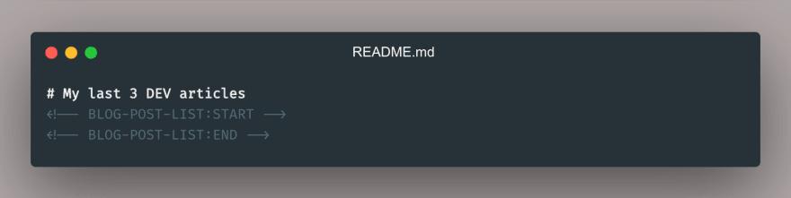 Readme Github profile
