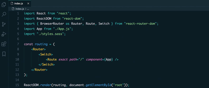 React code snippet with the Cobalt Next - Dark theme