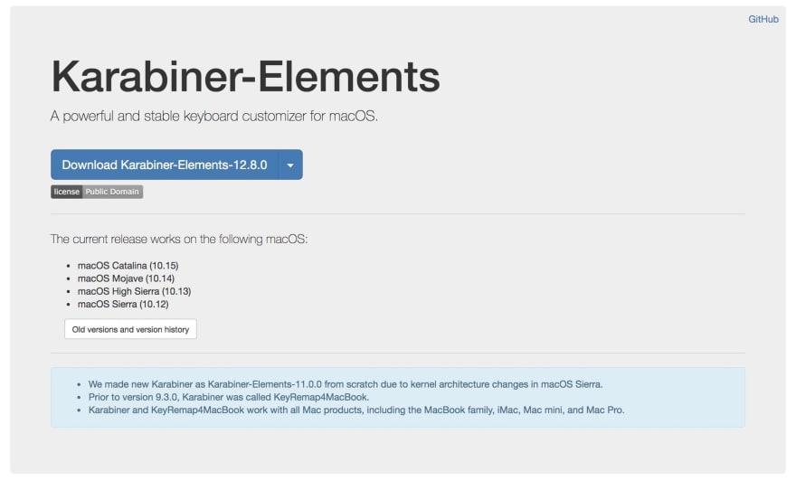 Karabiner-Elements app