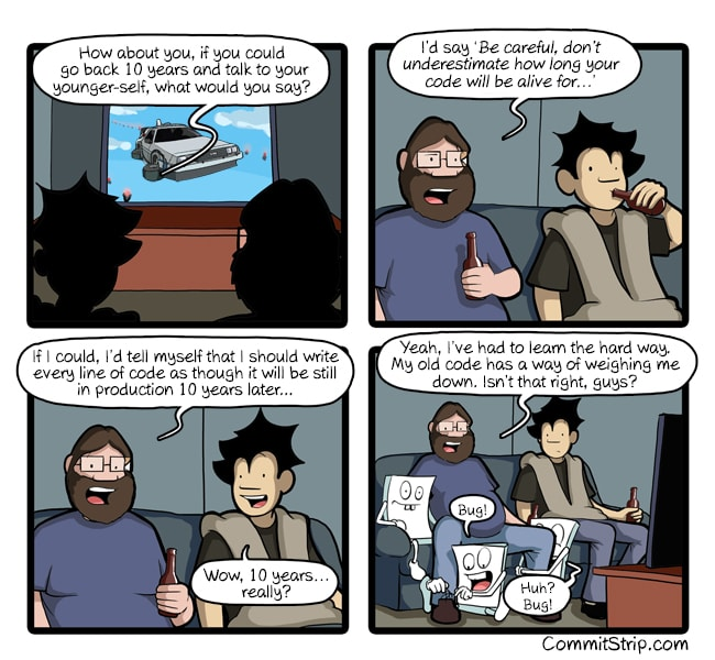 CommitStrip illustration advise to young developer
