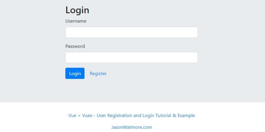 Vue vuex registration login