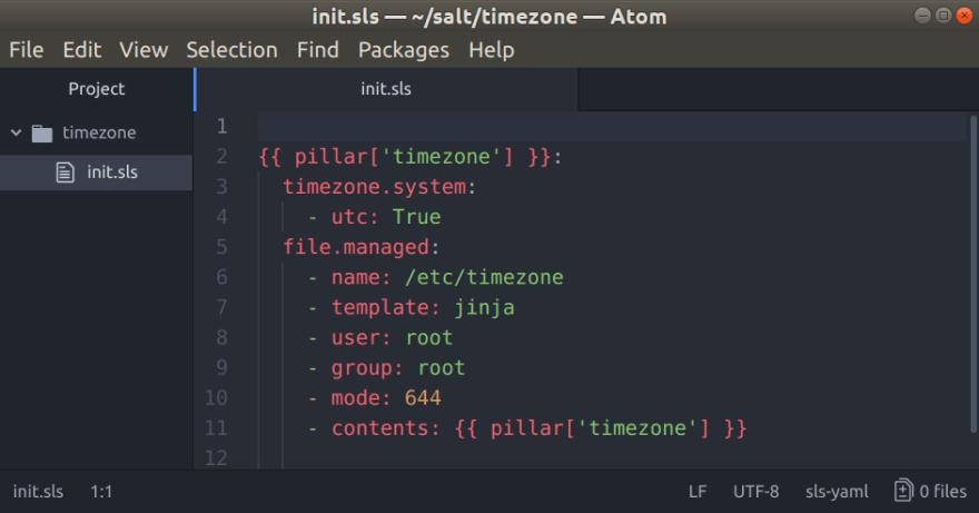 SaltStack package for Atom