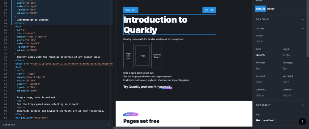 Cover image for Introducing Quarkly – instrument for React devs and designers, that will help you optimize your workflow