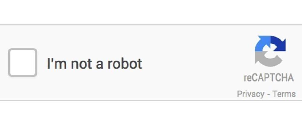 """Cover image for # Migrate to google captcha to v3. No more """"No, I am not a robot"""""""
