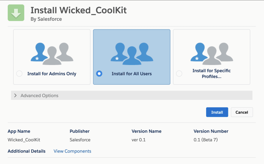 Salesforce Wicked Coolkit Install