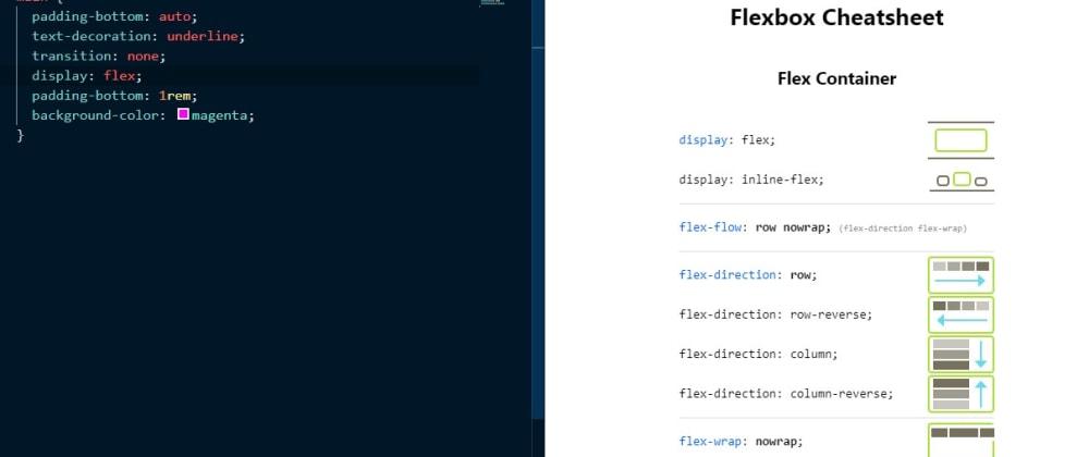 Cover image for Flexbox cheatsheet inside VS Code