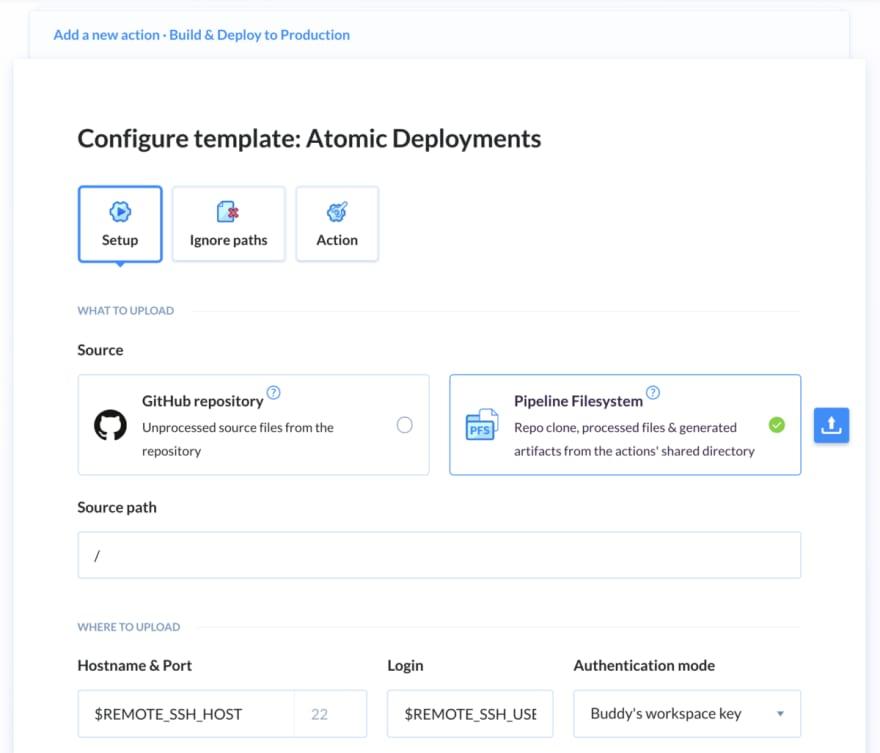Atomic deployment buddy step atomic confgure 1