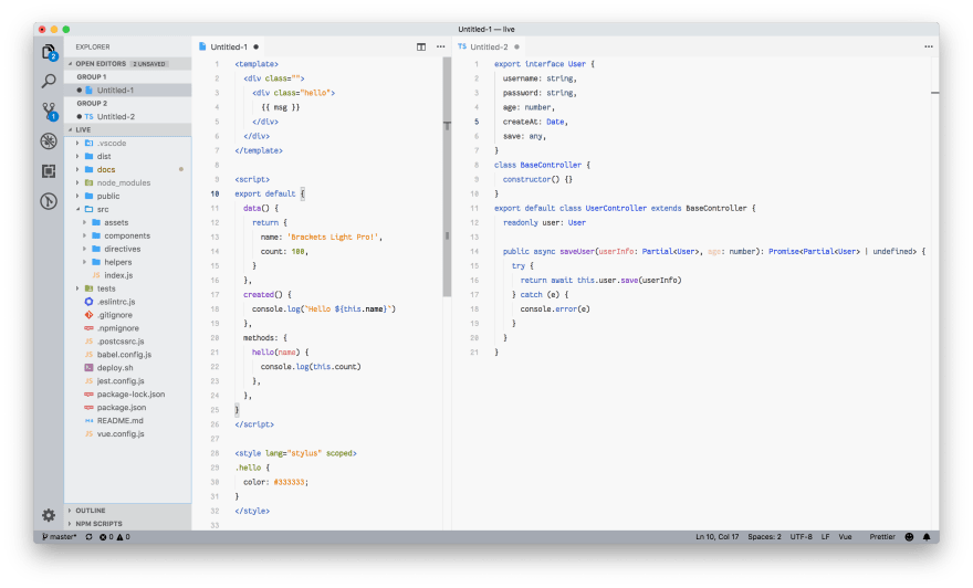 Brackets Light Pro for VS Code