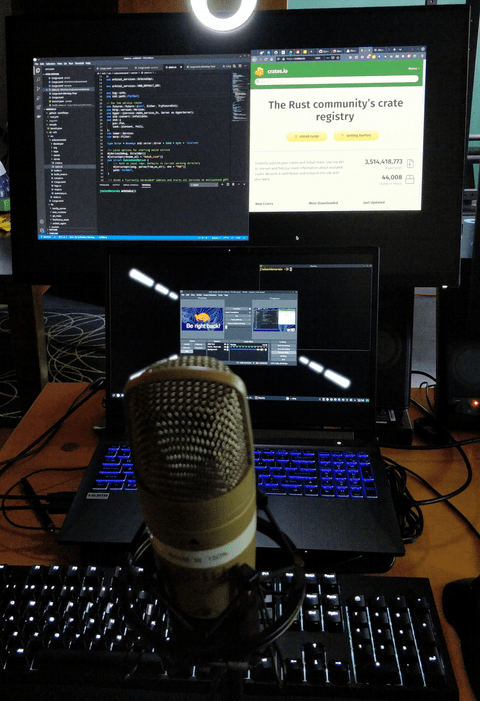 My extra basic streaming setup. Don't spend big money before you even have momentum.