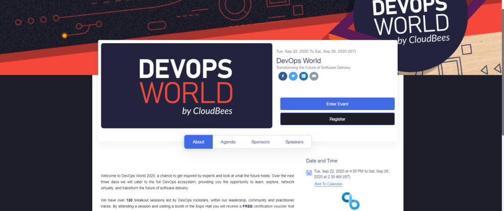 Cover image for DevOps World Virtual Event 2020