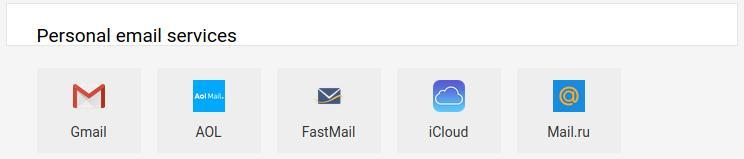 personal email service image