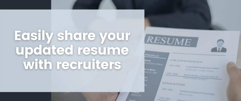Cover image for Your one stop solution to sharing your resume with everyone using GitHub