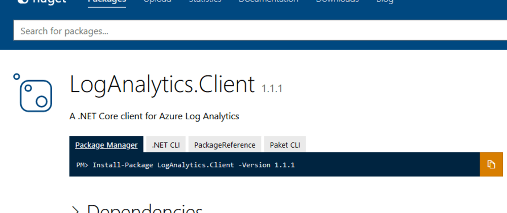Cover image for Introducing the LogAnalytics.Client NuGet for .NET Core