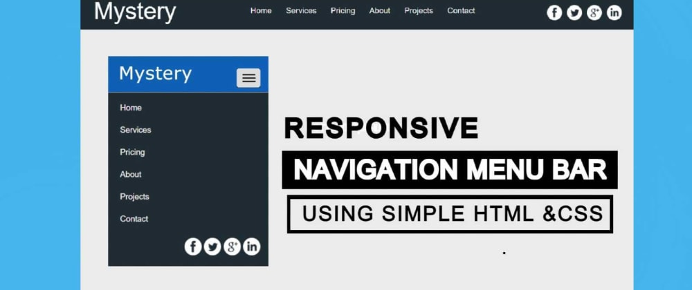 Cover image for Create Modern Navigation Bar with logo using HTML, CSS, and Bootstrap