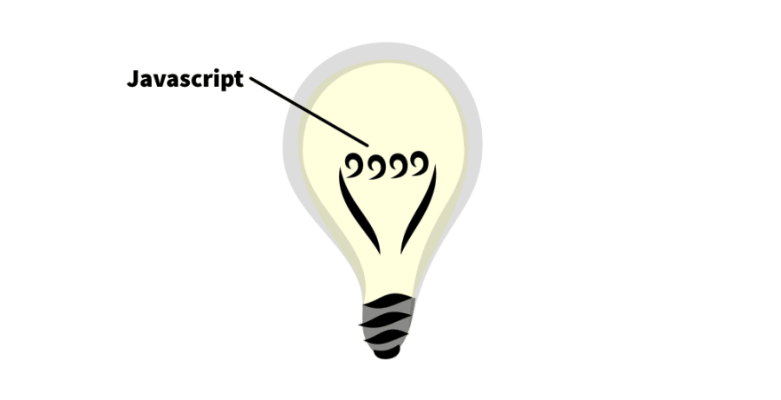 The filament of a light bulb marked as 'Javascript'.