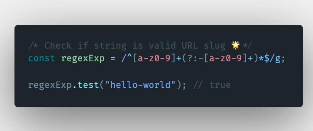 Cover image for How to check if a string is a valid URL slug in JavaScript?