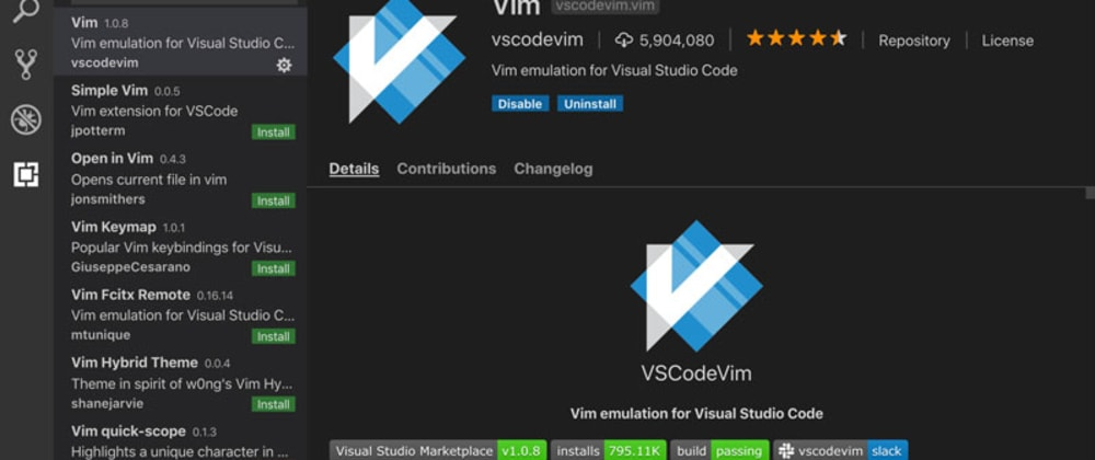 Cover image for Boost Your Coding Fu With Visual Studio Code and Vim